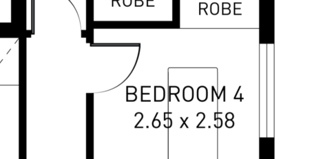 small bedroom that could benefit from cavity sliding doors